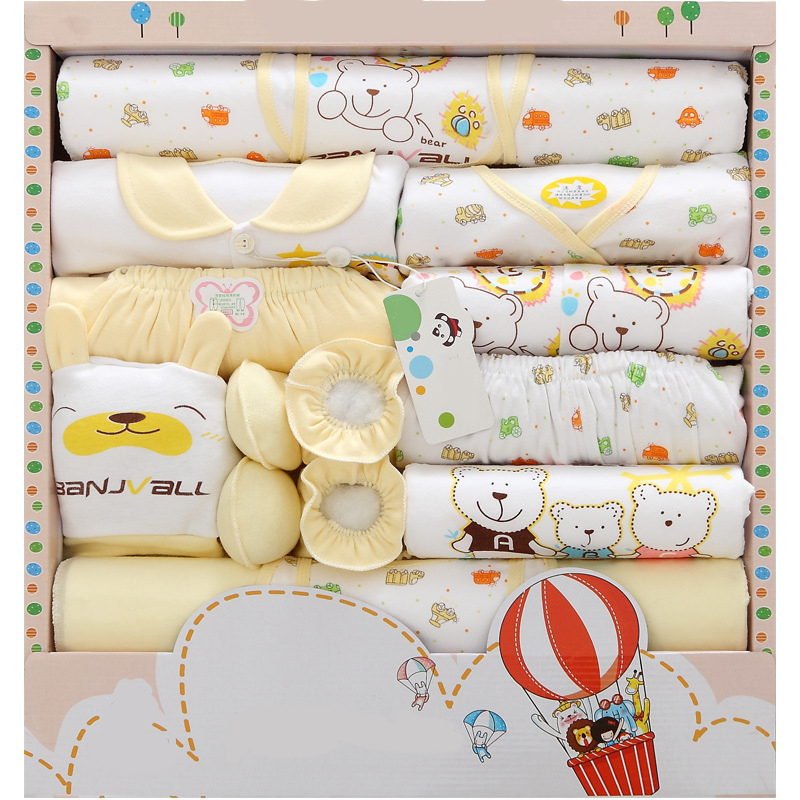 New Arrival Newborn Baby Underwear Supplies Baby Gift Box Set 18 Pcs Newborn Warm Clothes Cotton Suit Baby Supplies Gift Box