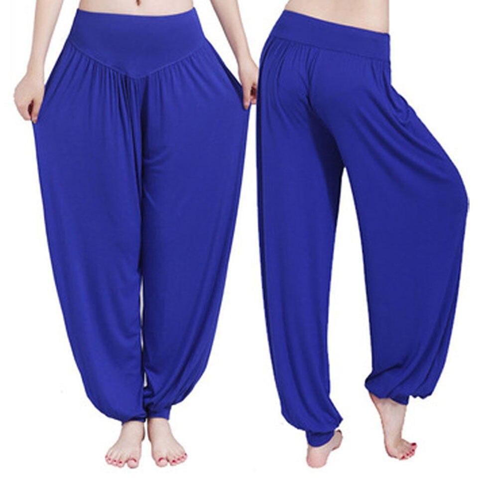 XXL más tamaño deporte mujeres Yoga Pantalones colorido harem modal bloomers danza Yoga taichi full length Pantalones suave legging Pantalones