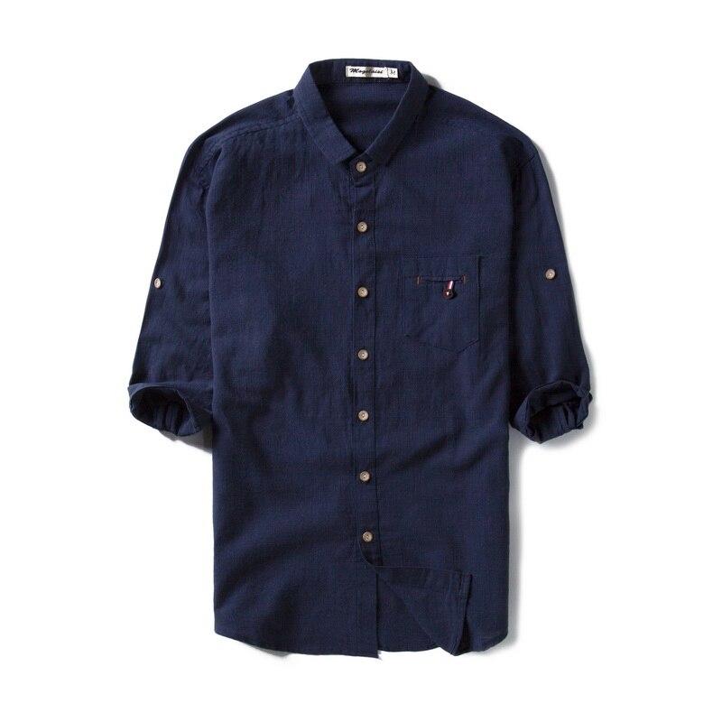New design brand summer cotton shirts men half sleeve navy blue shirt mens solid fashion turn-dwon collar shirt male tops camisa Рубашка