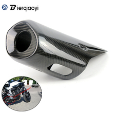Motorcycle For Yamaha MT07 FZ07 FZ 07 MT 07 2017 2016 2015 2014 Carbon MT-07 Fiber Muffler Cover Exhaust Pipe Cover Heat Shield for yamaha mt10 mt 10 mt 10 2016 2017 2018 motorcycle carbon fiber exhaust muffler pipe tube heat shield guard cover