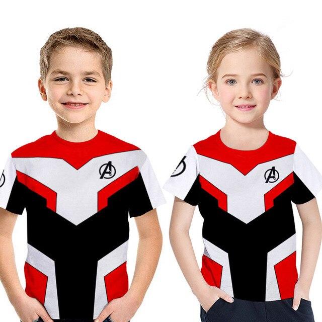 The Avengers Endgame Marvel Superhero Captain America Iron Man Thor Hulk Sweatshirt for Kids 5