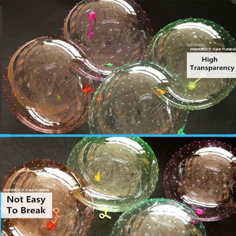 Шар с пузырьками, игрушки, прозрачный надувной, забавный, устойчивый к разрывам, супер хороший подарок, дети, для игры на открытом воздухе, прыгающий, 1 шт., случайный