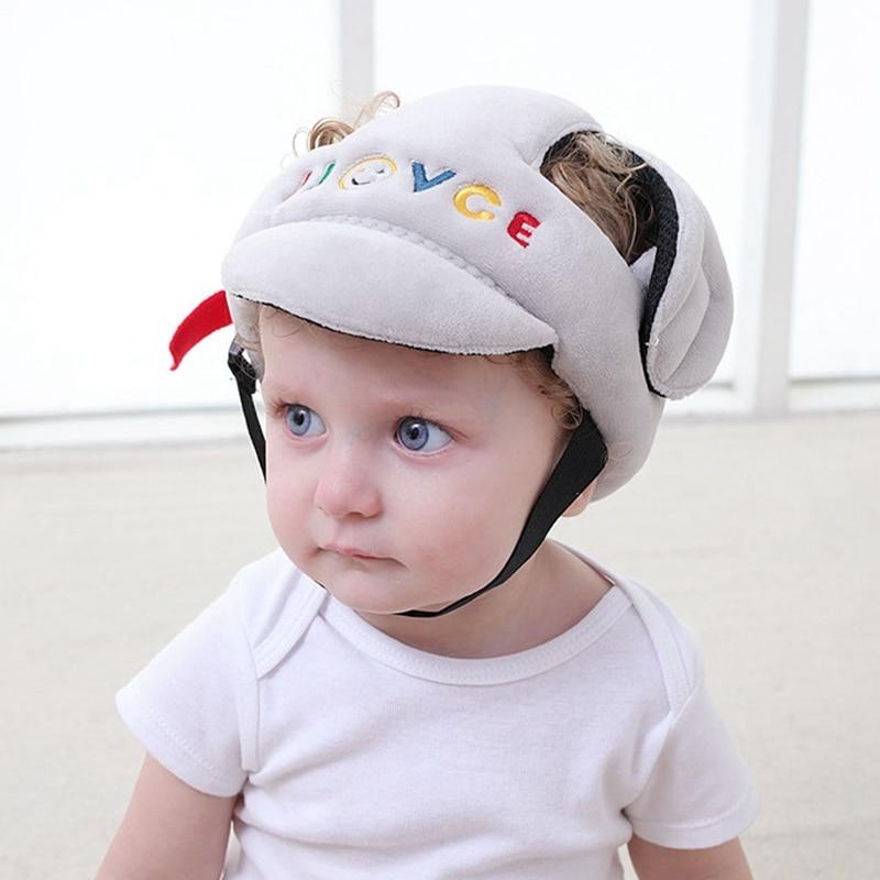 Baby Shatter-resistant Head Protection Cap Kids Toddler  Suede Breathable Sponge Anti-hit Cap Child Comfort Safety Helmet