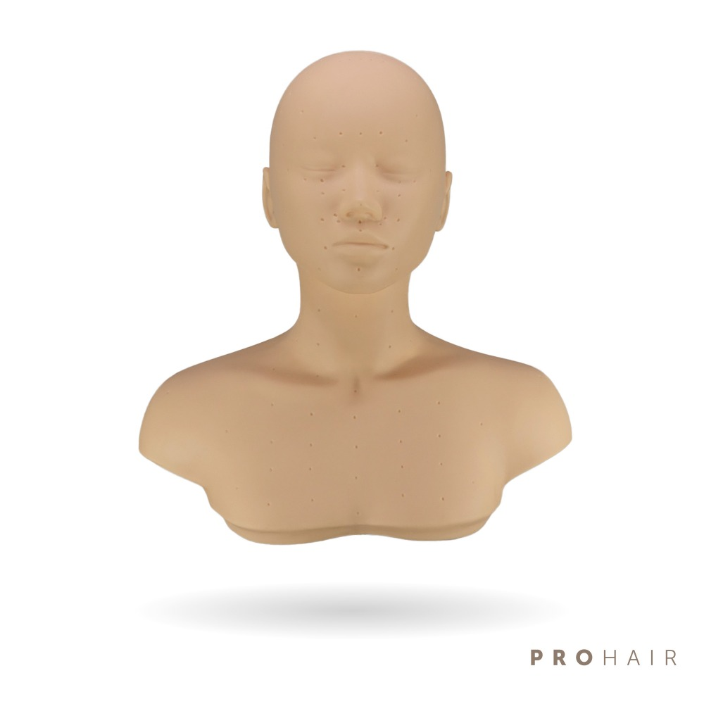 PROHAIR Practice Massage Mannequin Head Shoulder Platform for Training Manikin Head Practice Model