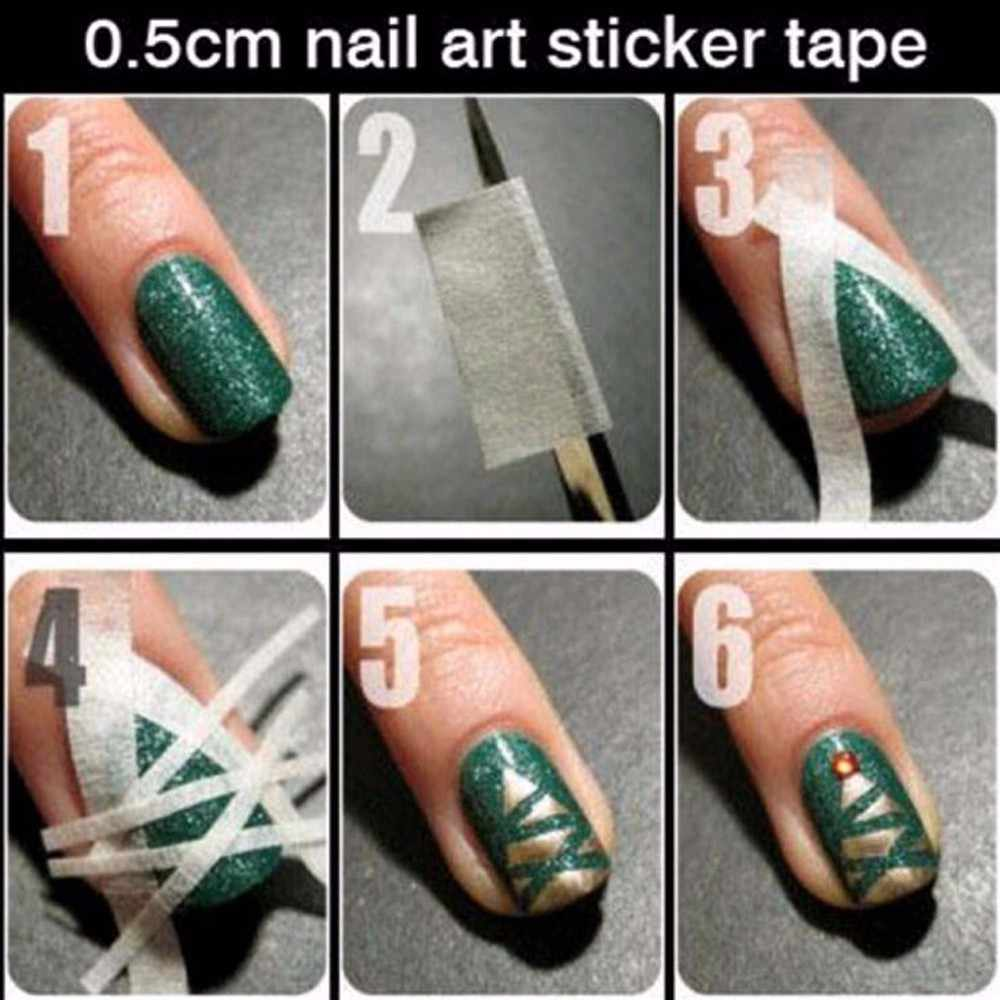 1 piezas consejos sobre arte creativo pegatinas de uñas cinta adhesiva de reparación de uñas herramientas de uñas decoración DIY