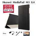 """Для Huawei MediaPad М3 кобура BTV-W09 случае BTV-DL09 новый планшетный ПК 8.4 """"ультра-тонкий планшетный кожаный защитный чехол крышка"""