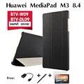 """Para huawei mediapad caso m3 coldre btv-w09 btv-dl09 novo tablet pc 8.4 """"tablet ultra-fino estojo de proteção de couro shell cobrir"""