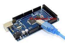 Freeshipping Mega 2560 R3 Mega2560 REV3 ATmega2560-16AU Board + USB Cable compatible for arduino Mega 2560 r3 good quantity
