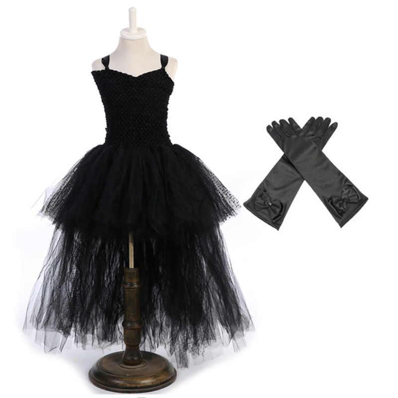 70ec8b546c9f Elegant V Neck Tulle Tutu Dress for Children Flower Girls Long Tail Wedding  Party Prom Ball