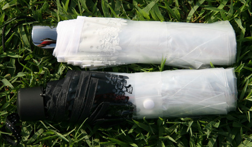 Transparenter Kunststoff PVC Spitze drei Taschenschirm sonnig - Haushaltswaren - Foto 6