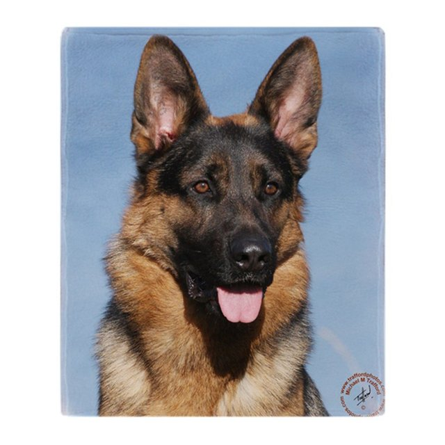 GSD Fleece Throw Blanket