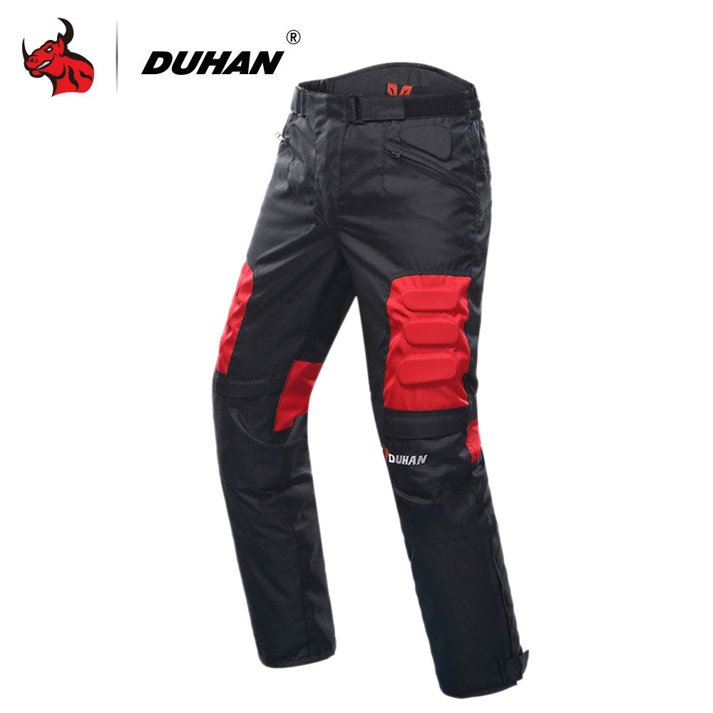 DUHAN Motorcycle Pants Motocross Off Road Trousers Motorcycle Racing Pantalon Windproof Riding Pants Knee Protective Guards