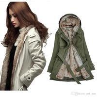 Women down parkas lady winter clothing girl's Faux warn fur outwear lining fur jackets Overcoat coats Tops