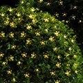 Цветочные гирлянды 50 светодиодные гирлянды наружные сказочные огни солнечные лампы для сада водонепроницаемое Наружное освещение домашни...