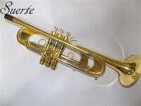 Professional Тяжелая труба Bb B плоские Музыкальные инструменты пассивация отделка латунный корпус с мундштуком и чехол для переноски