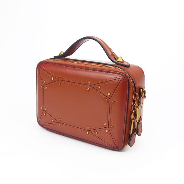 Fctossr 2018 Latest Women S Handbags Handmade Genuine Leather Shoulder Las Bags Cowhide Fashion Messenger Bag Small