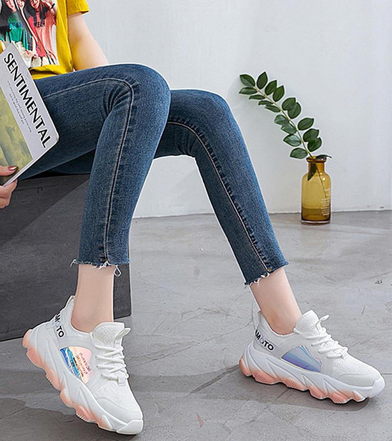 Platform sneakers women white Breathable Mesh casual shoes female new Summer Flat Women Vulcanize Shoes tenis feminino VT249 (1)