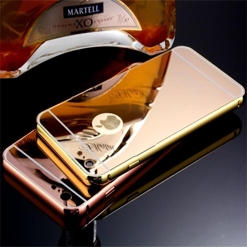 Xinchentech Untuk iphone 6/6 S Plus Kasus Mewah Cermin Logam + Hard - Aksesori dan suku cadang ponsel - Foto 1