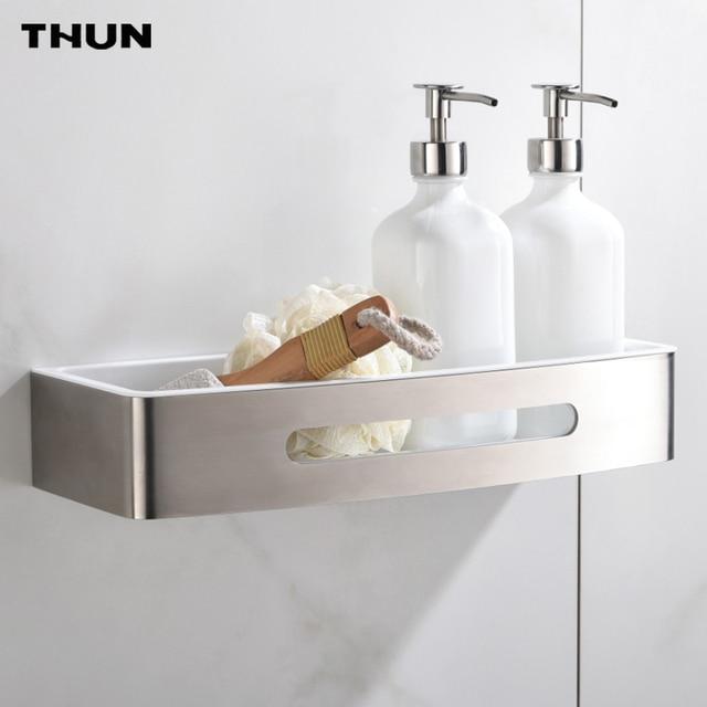 Thun fissato al muro mensola del bagno cestino di immagazzinaggio mensola appendiabiti da parete - Appendiabiti da bagno ...