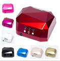 36W LED CCFL Light Nail Art Lamp Nail Dryer Nail Care Machine for UV Gel Nail Polish Curing Diamond Shape