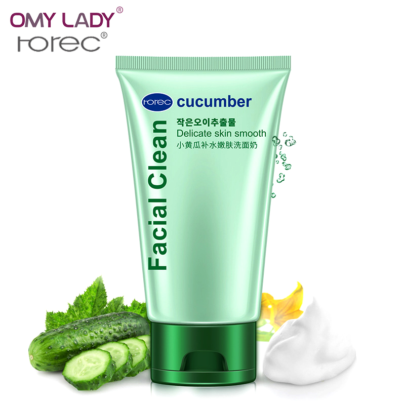 OMY LADY HANCHAN cucumber moisturzing clean face cleanser deep & natural skin care Cleansing Foam refresh skin care facial clean