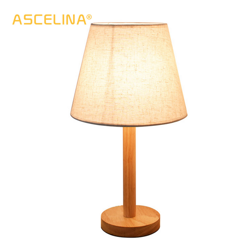 ASCELINA Modern Creative Country led Table Lamp Wooden ...