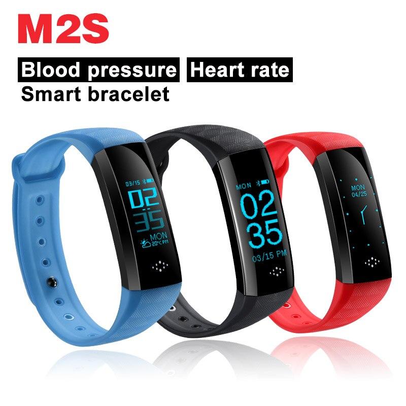 M2S Smart Bracelet Coeur Taux Sang Pression Bluetooth bracelet Pour IOS Android Apple iphone OLED PK xiaomi bande 2 M2Z A58 QS80