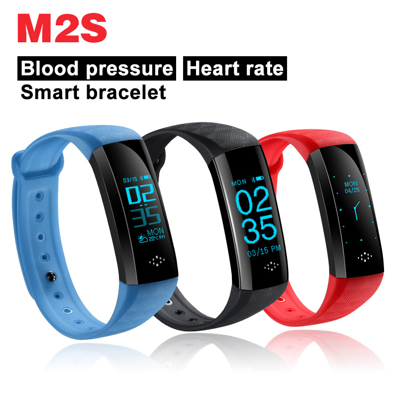 M2S Smart Bracelet Heart Rate Blood Pressure Bluetooth wristband For IOS Android Apple iphone OLED PK xiaomi band 2 M2Z A58 QS80