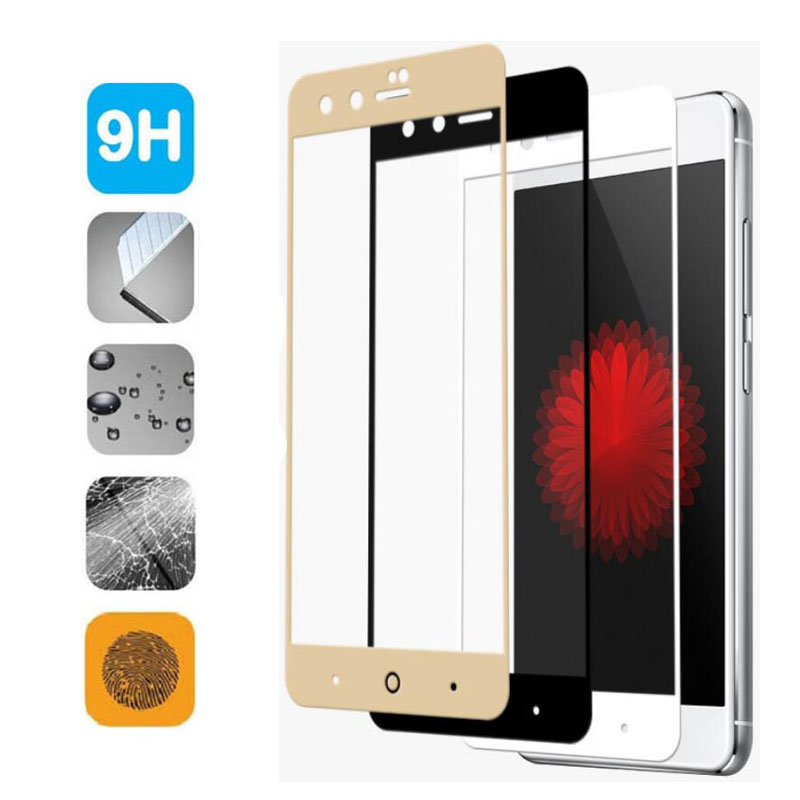 GerTong Full Cover Tempered Glass For <font><b>ZTE</b></font> Blade V8 A2 Plus For <font><b>ZTE</b></font> <font><b>Nubia</b></font> Z17 <font><b>Z11</b></font> <font><b>mini</b></font> <font><b>Z11</b></font> Max M2 Lite <font><b>Screen</b></font> Protect Glass Film image