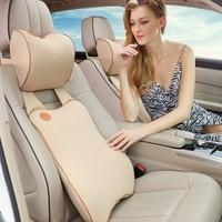 Upgrade car waist suit Back Support Cushion Car Seat Headrest Pillow and Car Lumbar Support Pillow Travel Auto Head Neck Rest