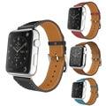 Для Apple Watch Band Кожаный Синий Роскошные Подлинная Браслет Ремешок Для Часов Замена Запястье с Адаптером Застежка для iWatch Ремень