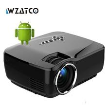 WZATCO Mini proyector Android 4.4 WIFI Bluetooth 4.0 HD LED Multimedia Proyectores de 1600 Lúmenes de cine En Casa LCD Projektor Beamer
