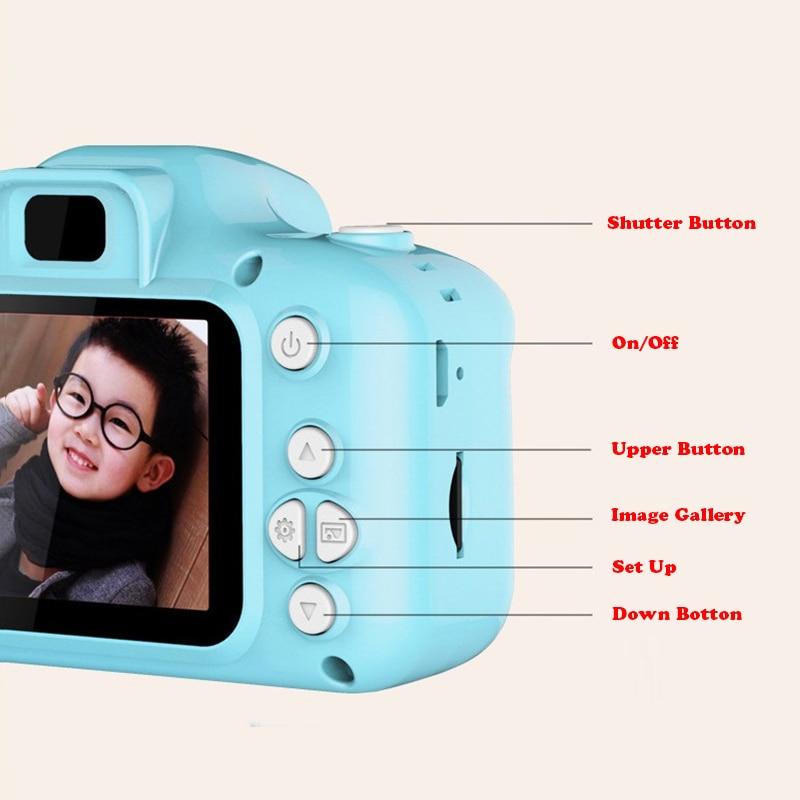 13.0MP перезаряжаемая детская мини-цифровая камера 2,0 дюймов HD экран видеомагнитофон видеокамера язык переключение тайм съемки