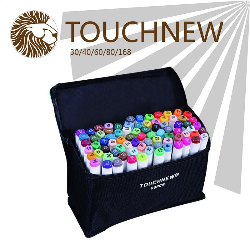 TOUCHNEW Alcohol oily Mark Pen Two-headed school Students design Hand-painted 60 72 80 Color fine markers manga brush pen touchnew 60 colors artist dual head sketch markers for manga marker school drawing marker pen design supplies 5type