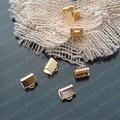 Comercio al por mayor de Ancho de 6mm/8mm/10mm/13mm/16mm/20mm/25mm/30mm color del Oro del Hierro Cintas Extremos Clips Resultados de La Joyería DIY (JM2950)