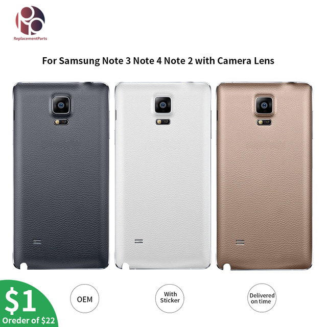 the best attitude 9e45f 275b2 US $2.07 18% OFF|Aliexpress.com : Buy OEM Housing Battery Back Cover  Replacement for Samsung Galaxy Note 4 N910F Note 3 Note2 Note4 edge Housing  Case ...