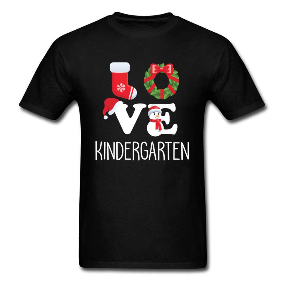 Любовь детский сад футболка учитель Рождественский подарок Мужская футболка черный красный зеленый топы футболки на заказ одежда хлопковая футболка прекрасный
