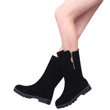YOUYEDIAN Women Flat Boots Round Toe Martin Zip Snow Boots Classic Ankle Casual Shoes Boot scarpe donna elegante #L5(China)