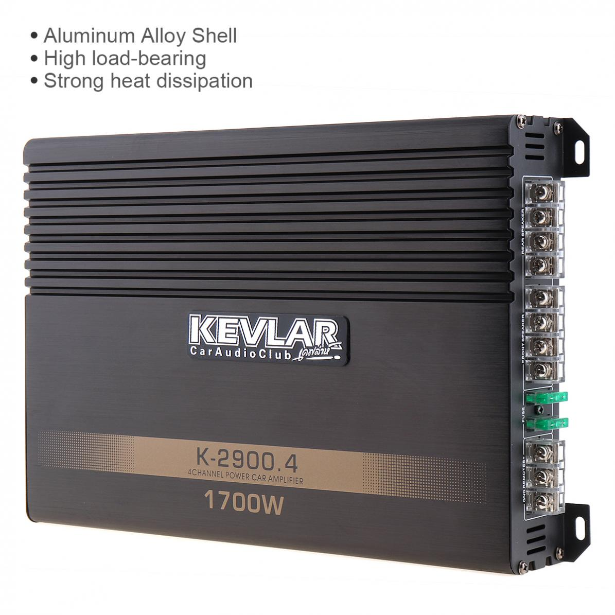 Universal 1700W Class AB Digital 4 Channel Aluminum Alloy High Power Car Stereo Amplifiers for Car