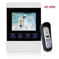 YSECU 4 Inch TFT Wired Video Door Phone Intercom Security Camera Doorbell Home Security Camera Monitor