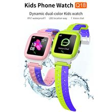 Q18 Kids Smart Watch IP67 Waterproof 2G SIM Card Clock LBS Tracker Camera SOS Call Location Reminder Anti-Lost Smartwatch