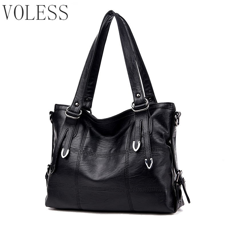 Fashion Patchwork Women Casual Tote Bags High Quality Pu Leather Women Handbag Vintage Large Crossbody For Women Shoulder Bags england style women casual tote pu leather patchwork handbag bag vintage large crossbody bags shopping bag for female