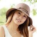 Las mujeres Sombrero de Moda Sólido Precioso Arco de Flores de Verano Anti-Ultravioleta Casquillo de la Playa Plegable Sombrero Protector Solar Sunbonnet Grande