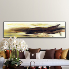 Posters and Prints Wall Art Canvas Painting Modern Abstract Oil Yellow Black Picture for Living Room Decor No Frame