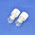 10pcs/lot Aluminum LED Crystal Bulbs 360 Beam Angle White/Warm White SMD2835 12leds DC12V 2W G4 200lm LED Lamp Lighting Bulbs