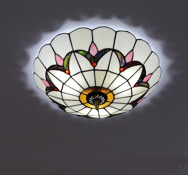 Licht Bunten Glas Deckenleuchten Einfache Barock Decke Dekoration  Schlafzimmer LED Flur Balkon Garderobe Decke DF24