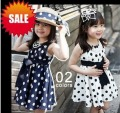 new Girls dresses, Chiffon dot print fashtion Children's dress kids,  Free shipping