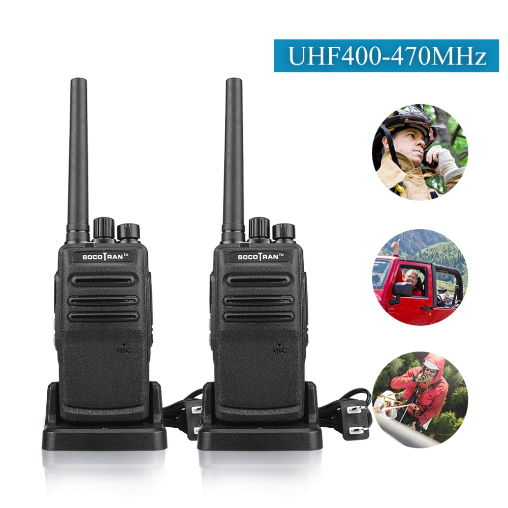 In Moscow Portable Two Way Ham Radio Walkie Talkies Rechargeable Long Range UHF 400 470MHz 16CH for Hunting Security Commercial-in Walkie Talkie from Cellphones & Telecommunications