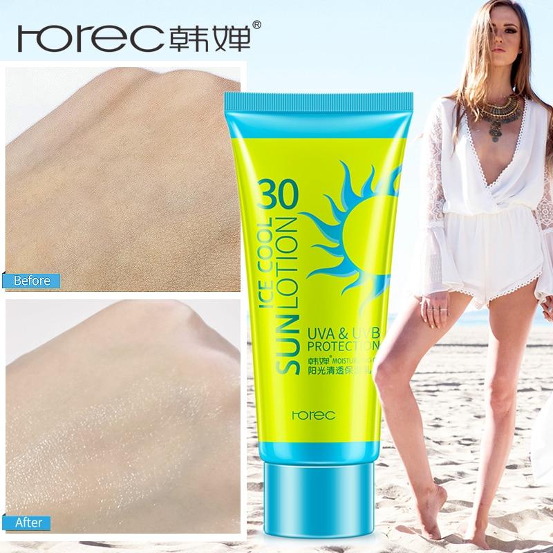 ROREC Face Sunscreen Cream Protetor Solar Facial Cream Sun Skin Filter Foundation SPF 30 Sun Lotion Tanning Oil Control Moisture