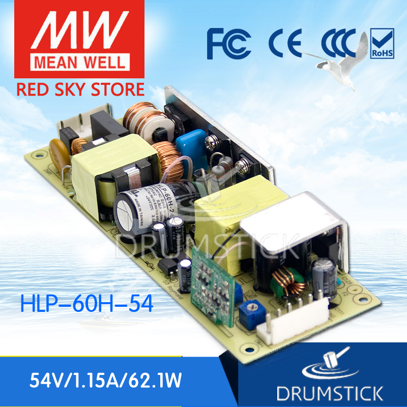 цена на MEAN WELL HLP-60H-54 54V 1.15A meanwell HLP-60H 54V 62.1W Single Output LED Driver Power Supply